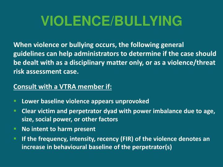 VIOLENCE/BULLYING