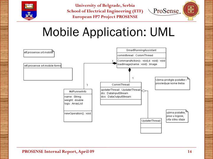 Mobile Application: UML
