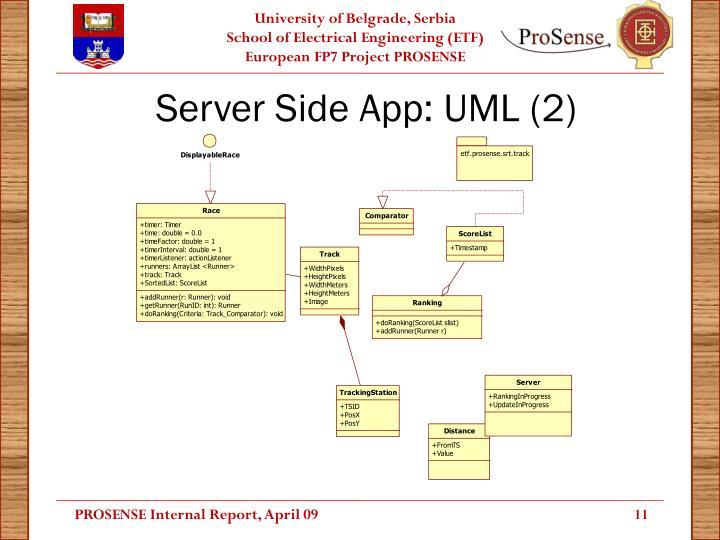 Server Side App: UML (2)
