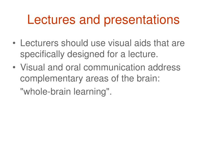 Lectures and presentations