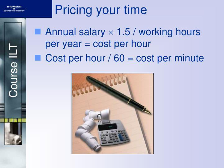 Pricing your time