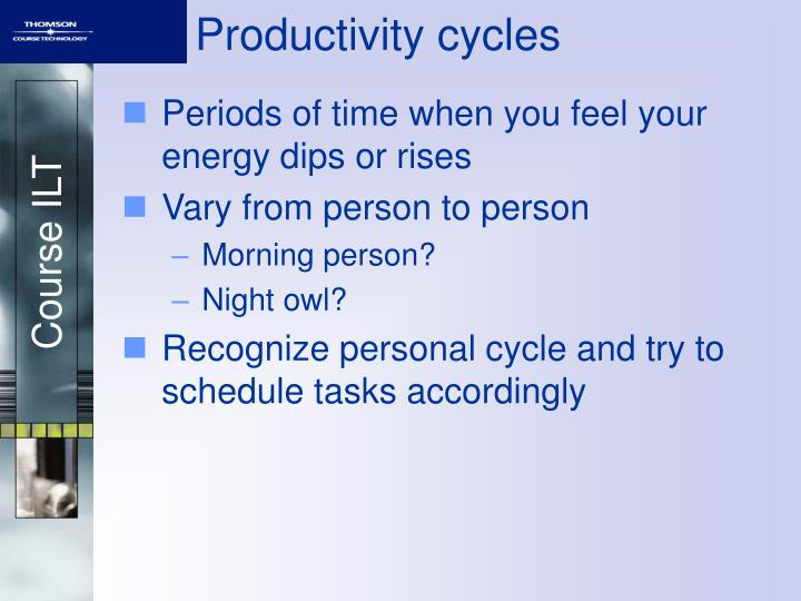Productivity cycles