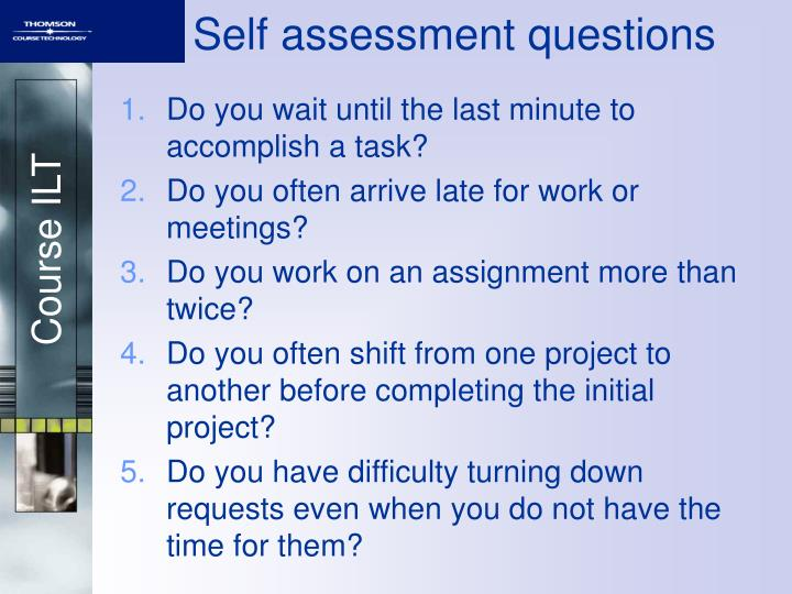 Self assessment questions
