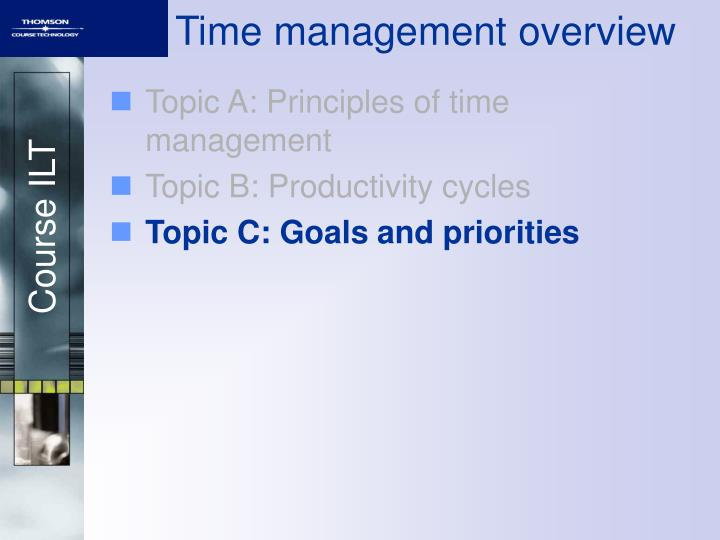 Time management overview