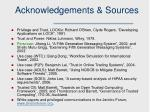 acknowledgements sources