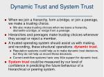 dynamic trust and system trust