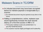 malware scans in tc drm