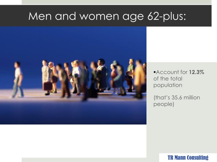 Men and women age 62-plus: