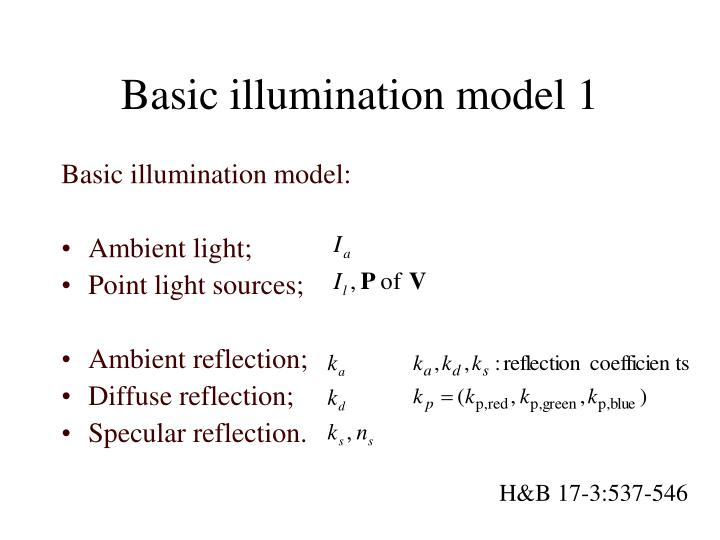 Basic illumination model 1