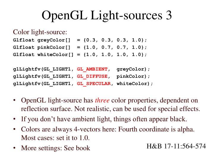 OpenGL Light-sources 3
