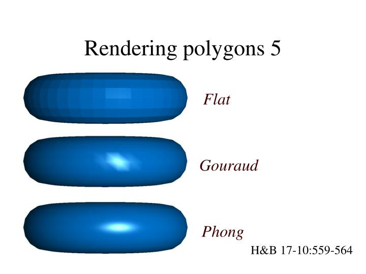 Rendering polygons 5