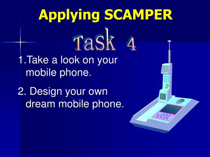 Applying SCAMPER