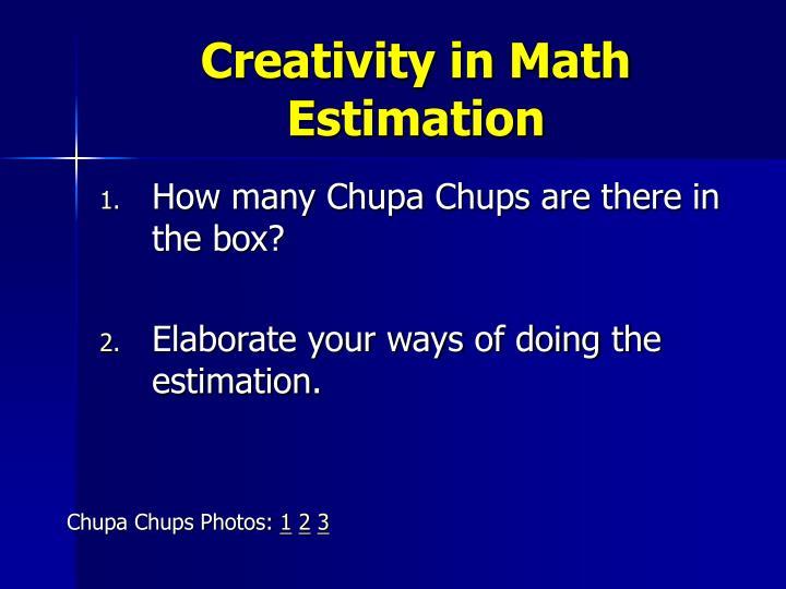 Creativity in Math