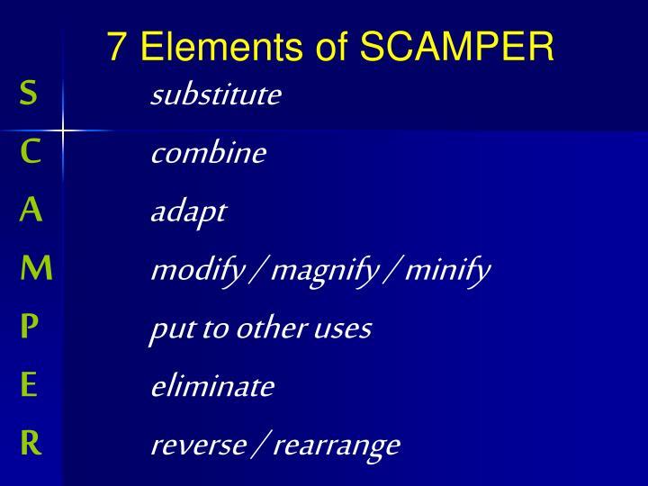 7 Elements of SCAMPER