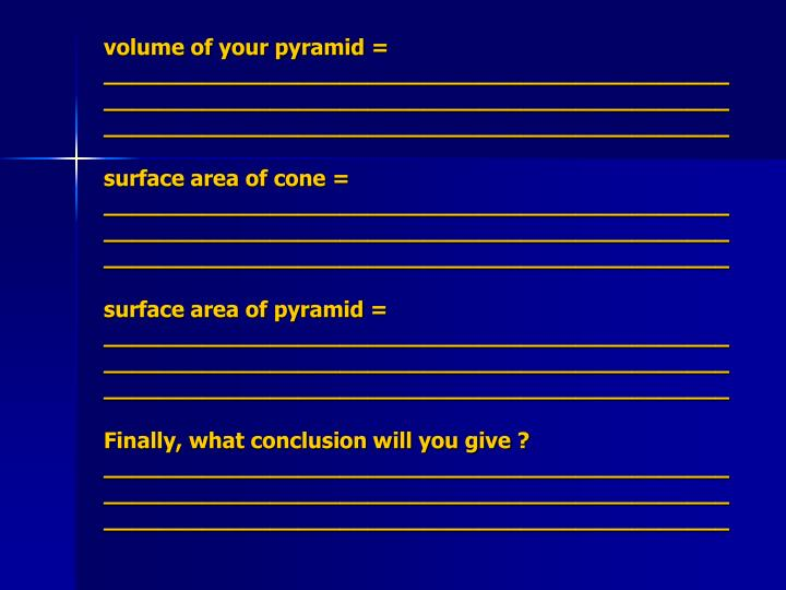 volume of your pyramid = _______________________________________________________________________________________________________________________________________