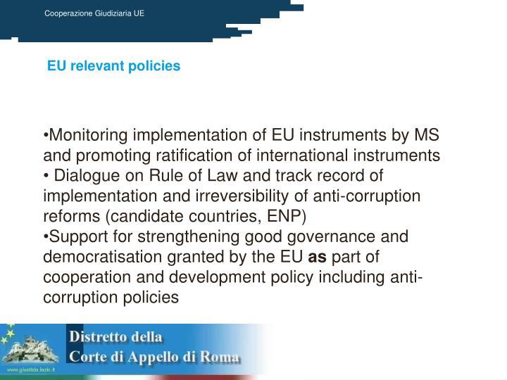 EU relevant policies