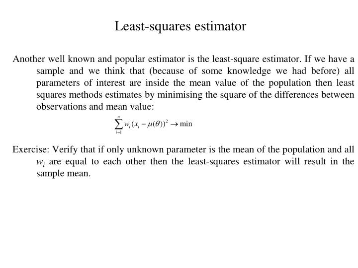 Least-squares estimator