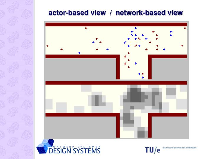 actor-based view  /  network-based view