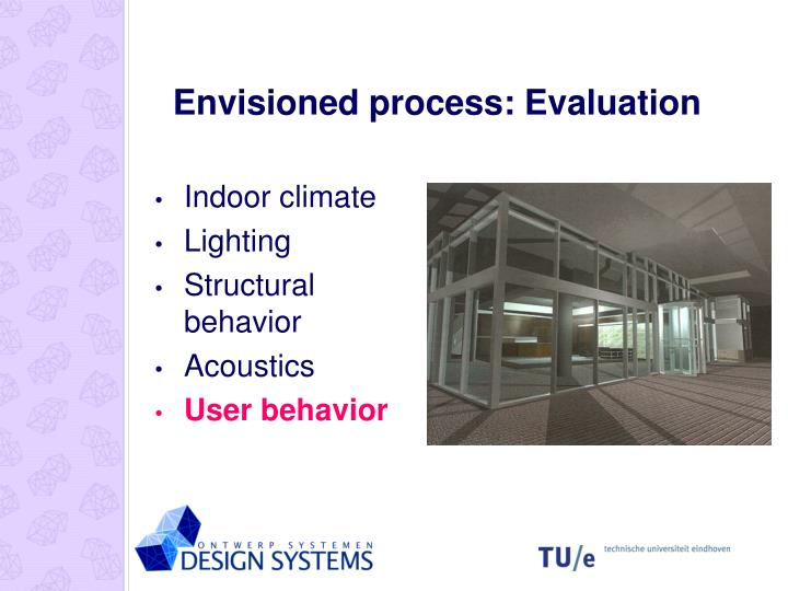 Envisioned process: Evaluation