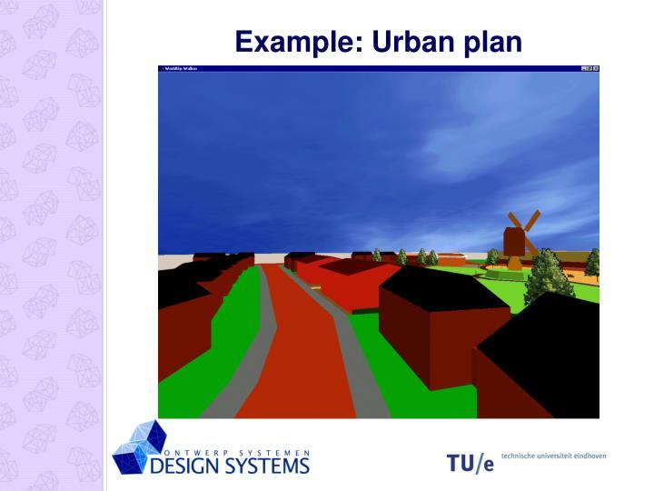 Example: Urban plan
