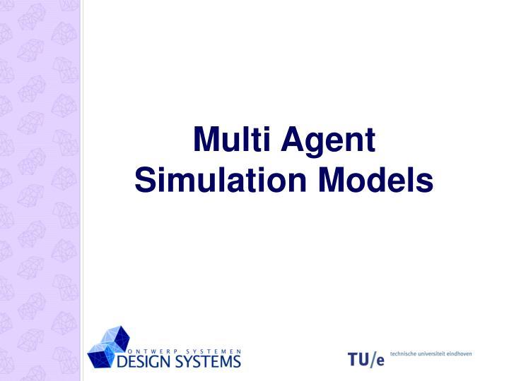 Multi Agent Simulation Models