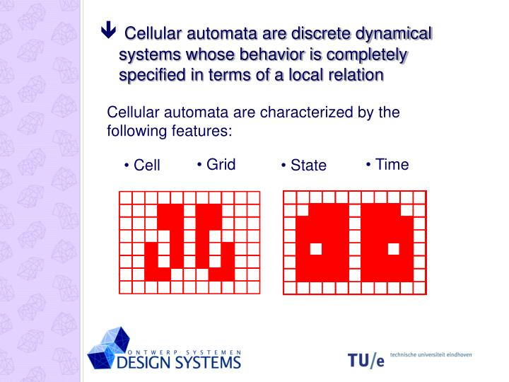 Cellular automata are discrete dynamical systems whose behavior is completely specified in terms of a local relation