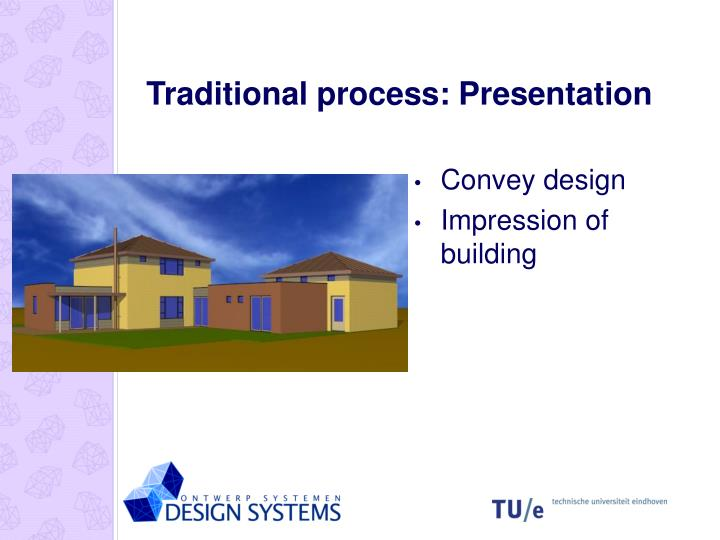 Traditional process: Presentation