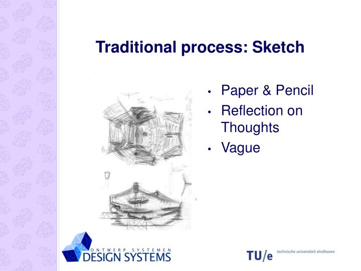 Traditional process: Sketch