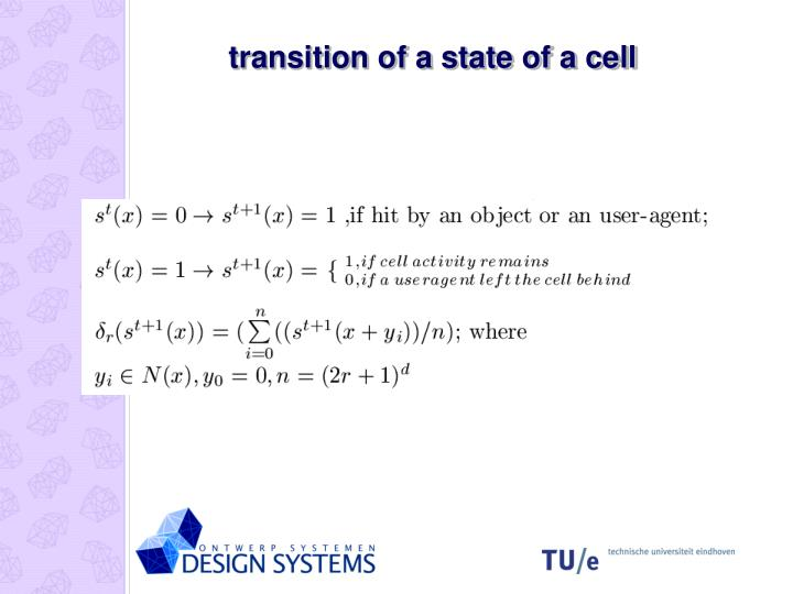 transition of a state of a cell