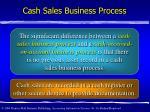 cash sales business process