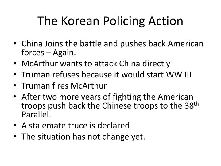 The Korean Policing Action