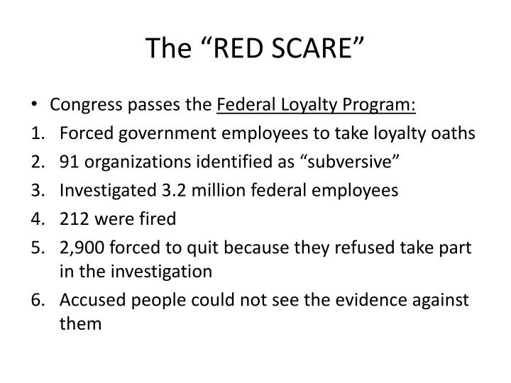 """The """"RED SCARE"""""""
