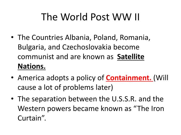 The World Post WW II