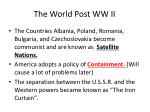 the world post ww ii1
