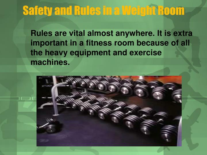 Safety and Rules in a Weight Room