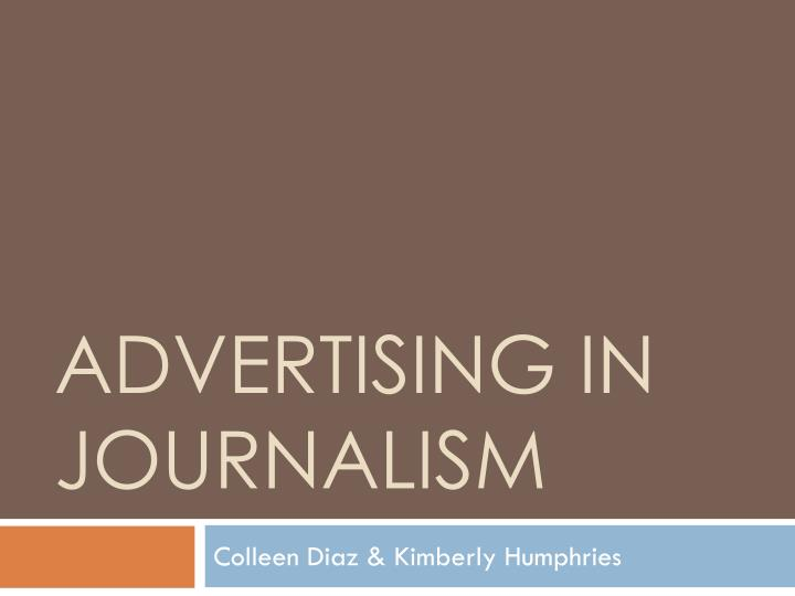 Advertising in journalism