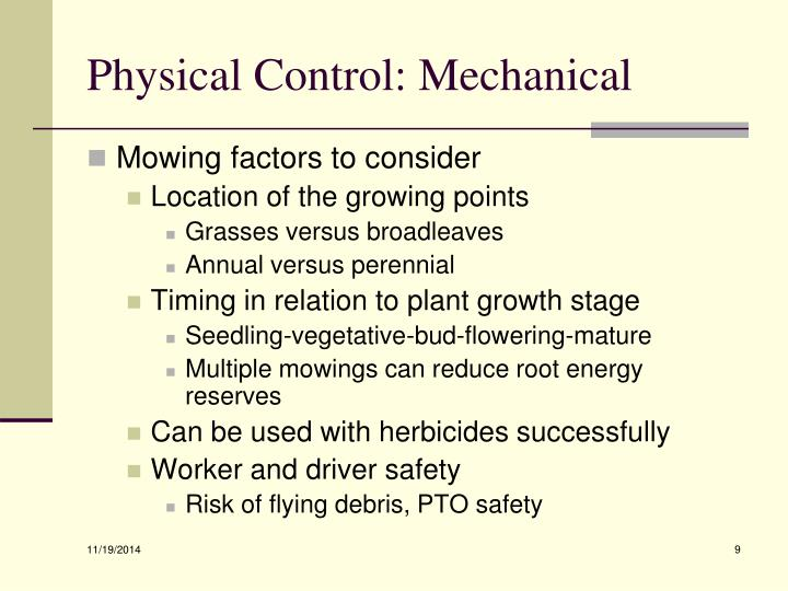 Physical Control: Mechanical