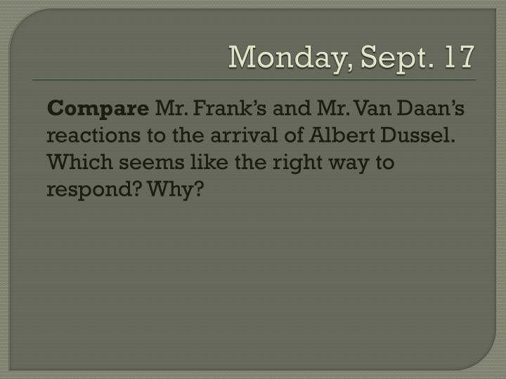Monday, Sept. 17