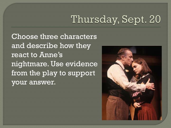 Thursday, Sept. 20