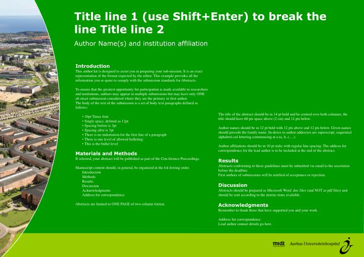 Title line 1 (use Shift+Enter) to break the