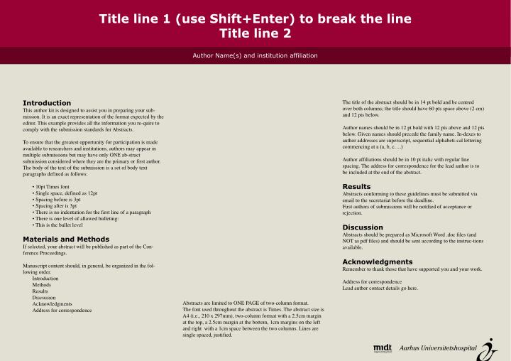 Title line 1 use shift enter to break the line title line 2