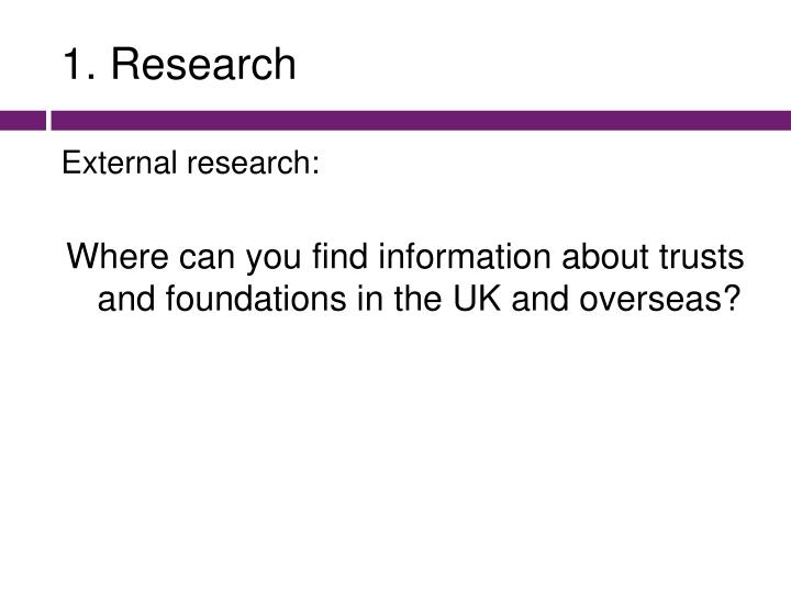 1. Research