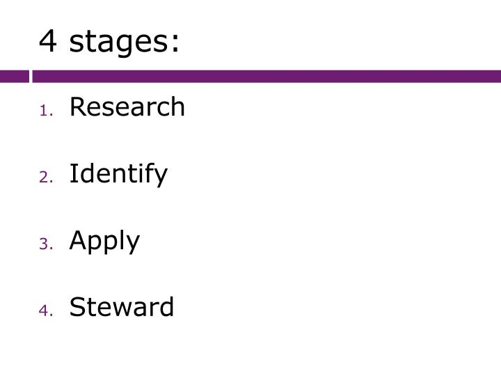 4 stages: