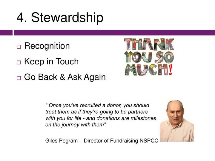 4. Stewardship