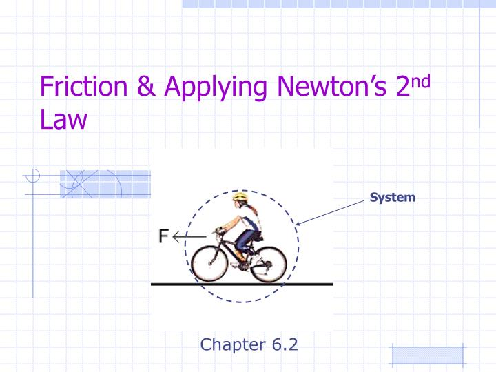 Friction applying newton s 2 nd law