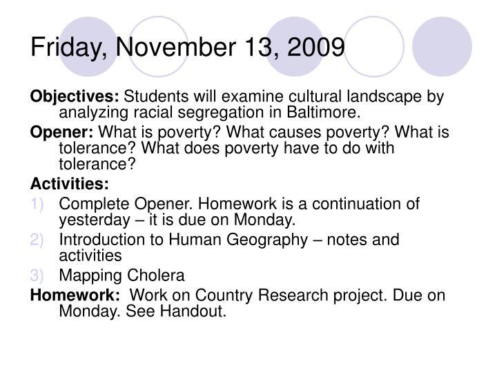 Friday, November 13, 2009