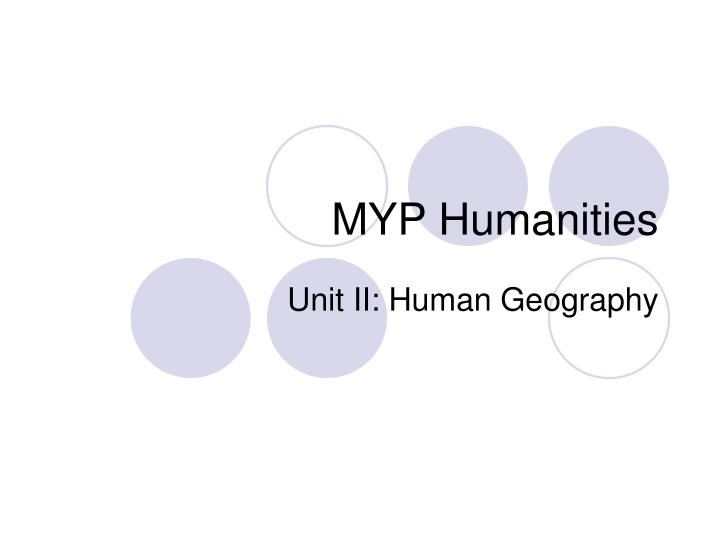 Myp humanities