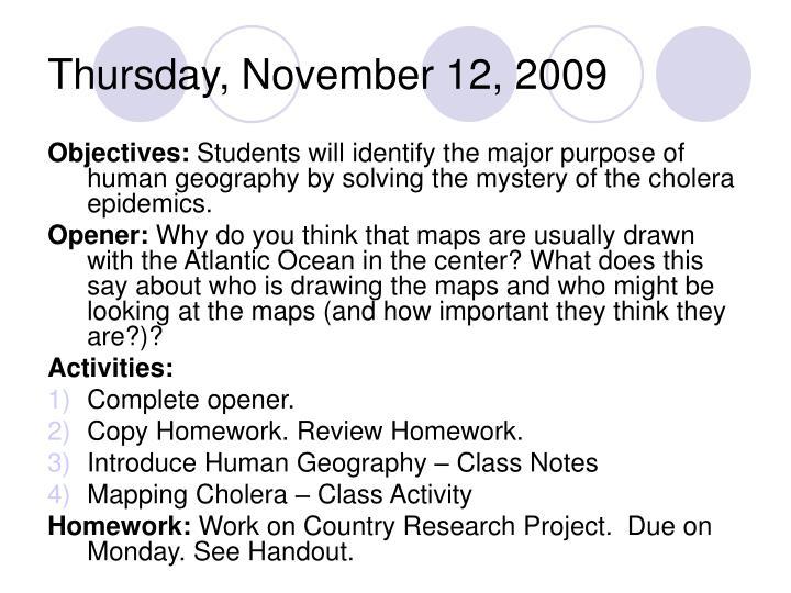 Thursday, November 12, 2009