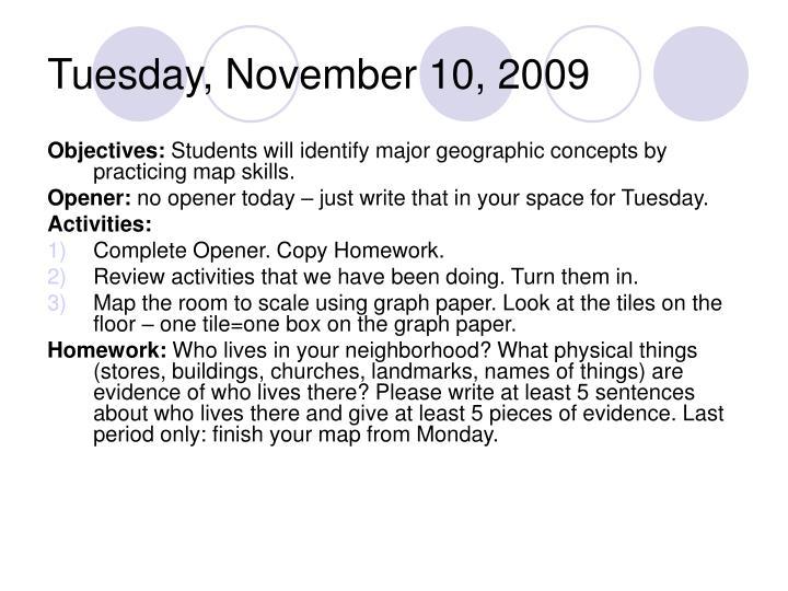 Tuesday, November 10, 2009