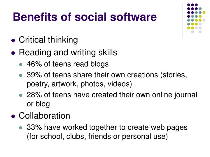 Benefits of social software